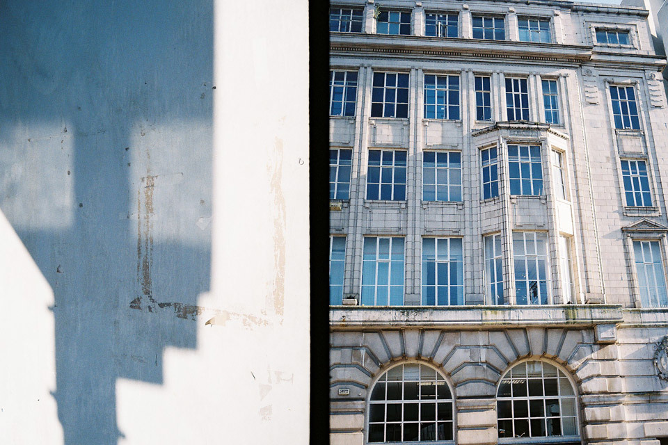 Manchester architecture with my Olympus Pen EE half-frame camera.