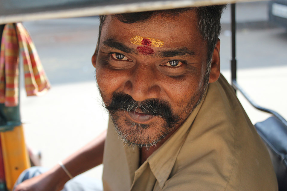 Autorisckshaw Driver in Chennai, India.