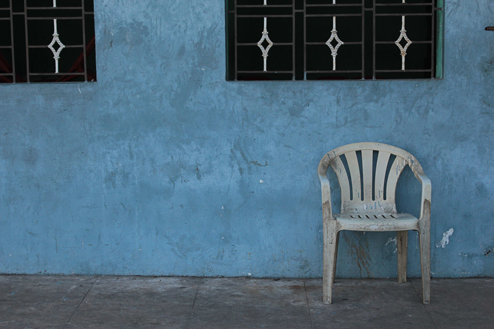 Lonely chair, Chennai, India.