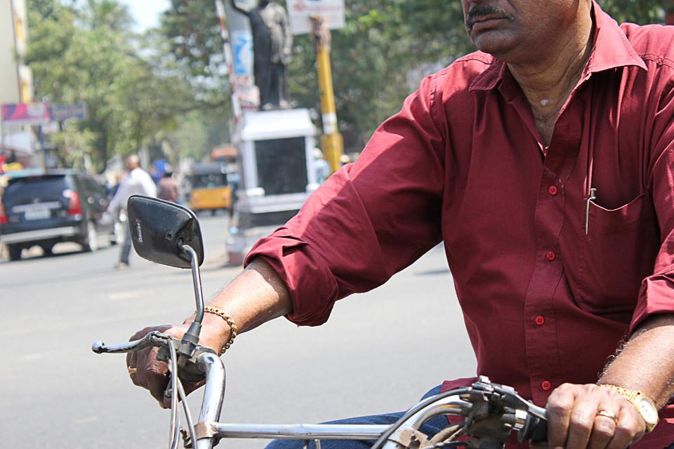 Motorbike rider, India.