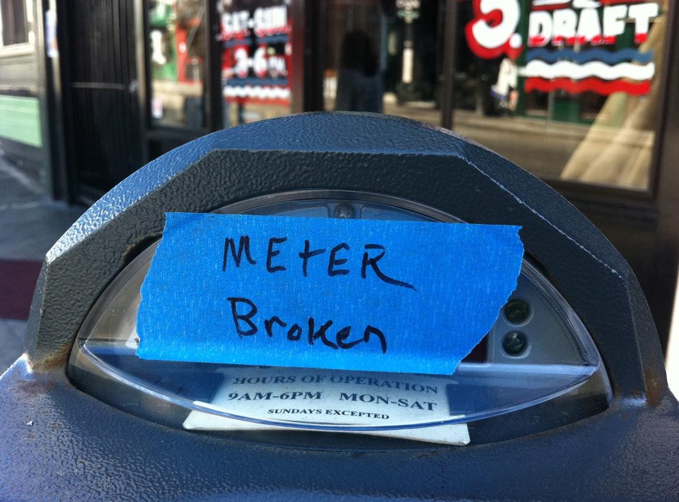 Meter Broken, San Francisco.