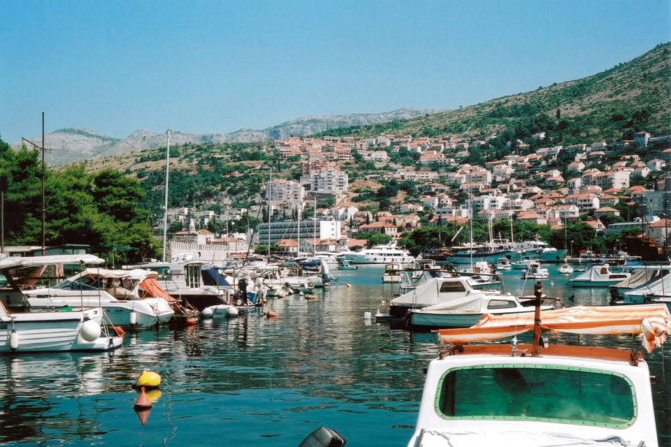 One of my favourite analogue cameras is the Kodak Retinette that I bought for £3 at a car boot sale. It produces such vibrant and sharp images, even in the hands of an amateur like me.   It's been to quite a few countries with me, this photo is of port in Dubrovnik, Croatia.