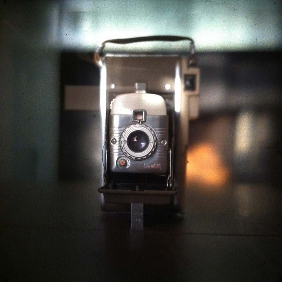 My Polaroid 95 through the lens of my Mamiya RZ67.