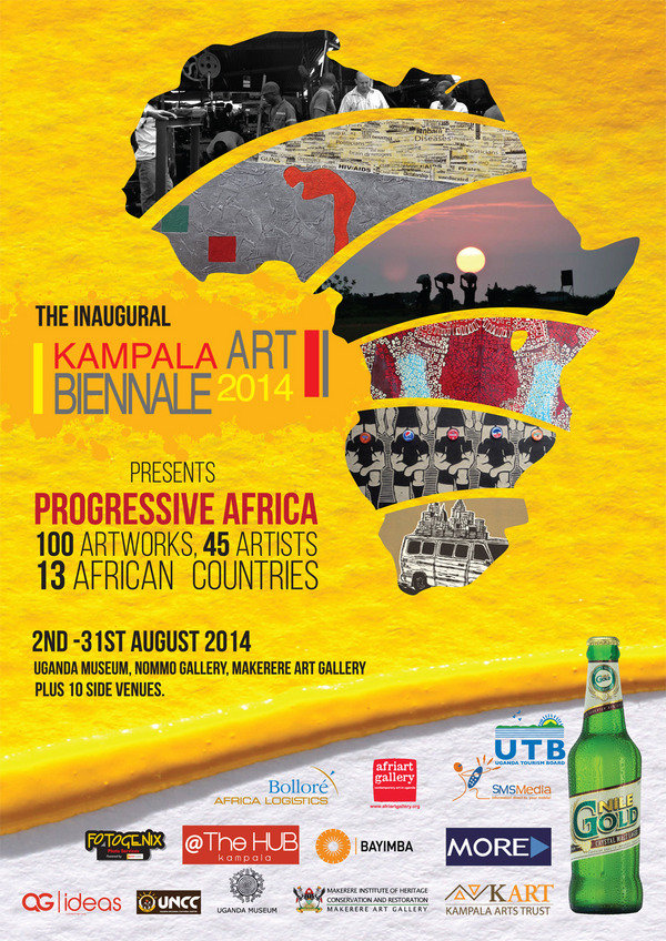 The Biennale 2014 is part of this discussion under the theme 'Proggresive Africa'. It is calling on African painters, photographers, illustrators, cartoonists, writers and all 2D media artists to present their perception of the current status of Africa through visual art. The verdict will result in over 100 images pro or against the purported progress, with viewers and visitors joining in on the discussion with the help of the visual aids.   For more information visit: Kampala Art Biennale 2014