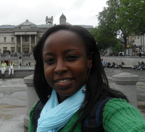Selfie moment at the Trafalagar square, London for our dear Ms. Comfort Mosha
