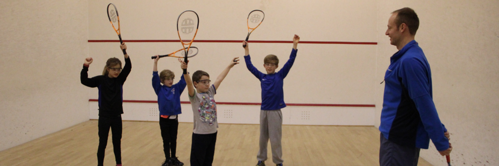 A junior group coaching session