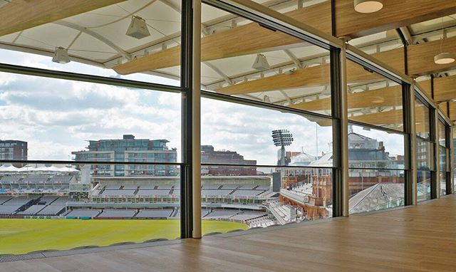 Stunning interior shot of Vitrocsa's Guillotine windows, home to Lord's Cricket Ground Warner Stand with our GUILLOTINE TH+ RANGE. 🏏 🇬🇧 To see more please visit http://vitrocsa.co.uk  LORD'S CRICKET GROUND WARNER STAND  Architect: Populous 