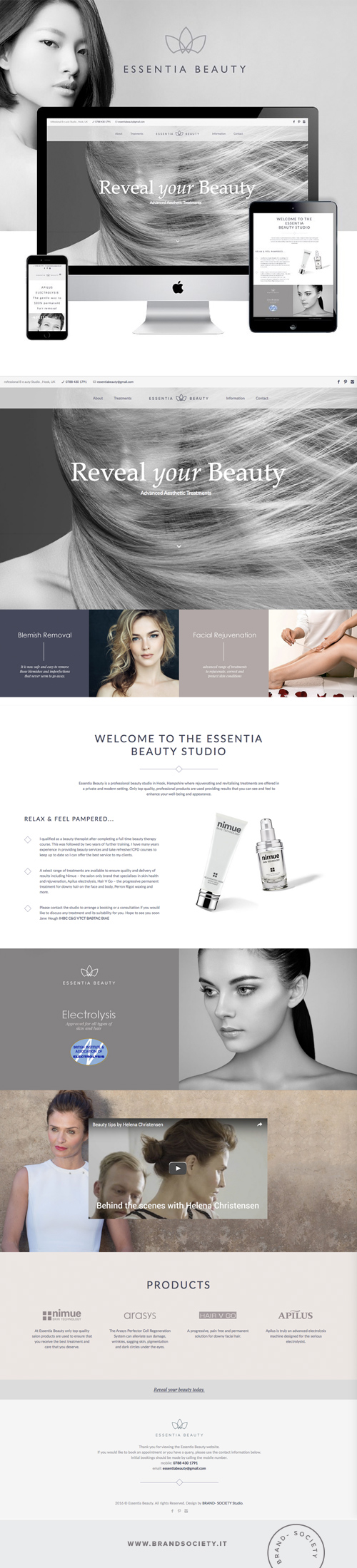 ESSENTIA BEAUTY    SERVICES  || WORDPRESS WEBSITE | CUSTOM DESIGN | BRANDING | COLOR PALETTE