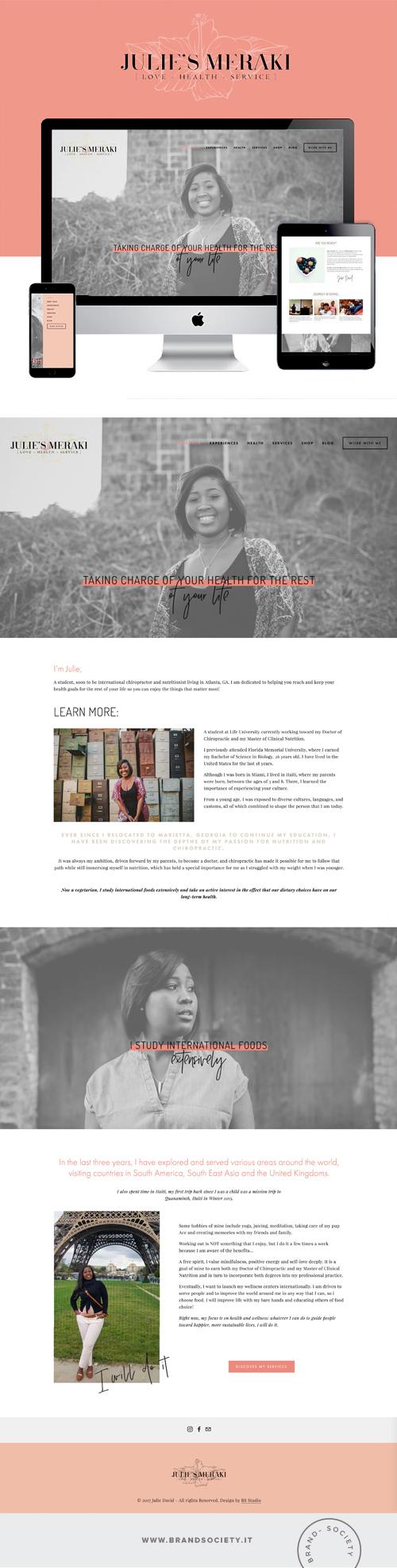 JULIE's MERAKI SERVICES|| SQUARESPACE WEBSITE | PORTFOLIO DESIGN | COLOR PALETTE