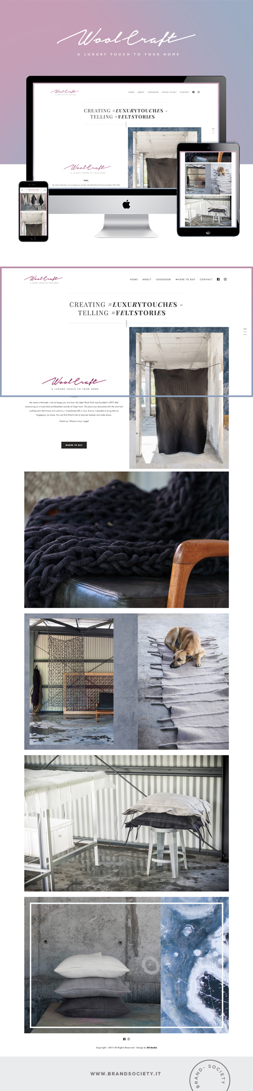WOOL CRAFT    SERVICES  || SQUARESPACE WEBSITE | LOOKBOOK DESIGN | COLOR PALETTE