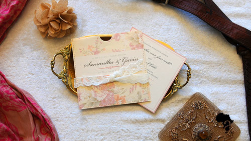 Full Square Pocket   A pocket wedding invitation containing a slide out insert with information on the front and on the back. The insert can be changed into a booklet with multiple pages.   Price range : R45 - R55    *Please note that we design according to our clients specific color scheme and theme. All invite folds can be customized to best reflect your wedding day or big event.