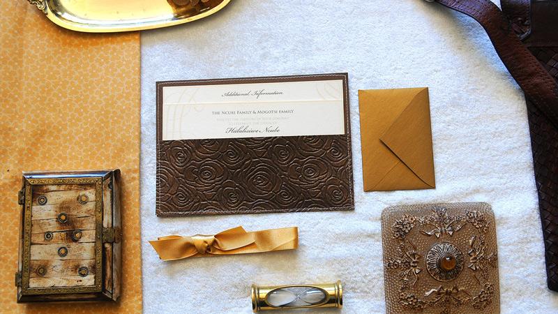 Johannesburg Wedding Invitations Africa ido Traditional