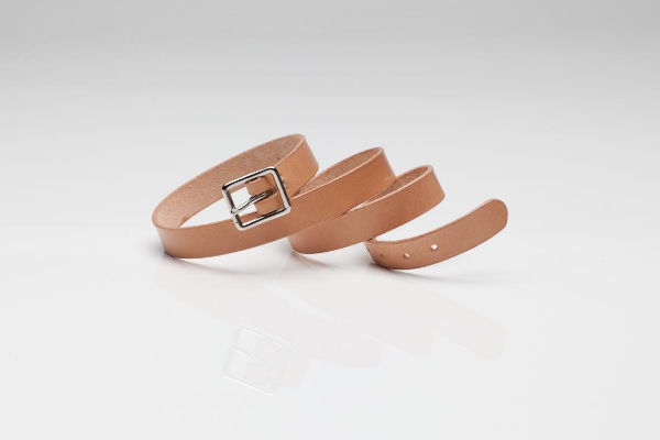 """ATLANTIC BRACELET 1/2"""" VEG-TANNED ITALIAN COW HIDE NATURAL / NICKEL PLATED SUGGESTED RETAIL: $115"""