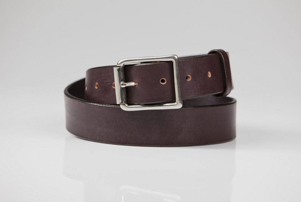 "ORION - 1.5"" ENGLISH BRIDAL LEATHER / NICKEL PLATED SOLID BRASS BUCKLE - HAVANA   SUGG  ESTED RETAIL: $200"