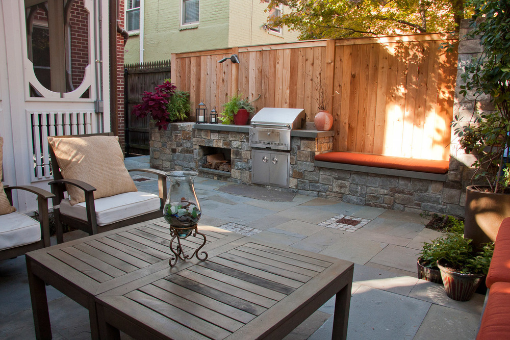 Project Location:  Washington, DC (Capitol Hill)  Completion:  Spring 2012  General Contractor:  Redux Garden & Home  Primary Material Palette:  Carderock stone, western red cedar, bluestone, granite cobbles  Photos By:  George Brown (unless noted otherwise)