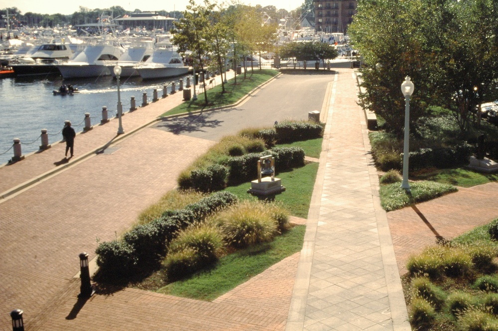 Project Location:   Annapolis, MD  Completion:   1985  Project Architect:  CSD Architects  Primary Material Palette:   Granite, Brick  Awards:  Merit Award, American Society of Landscape Architects Maryland Chapter, 2002