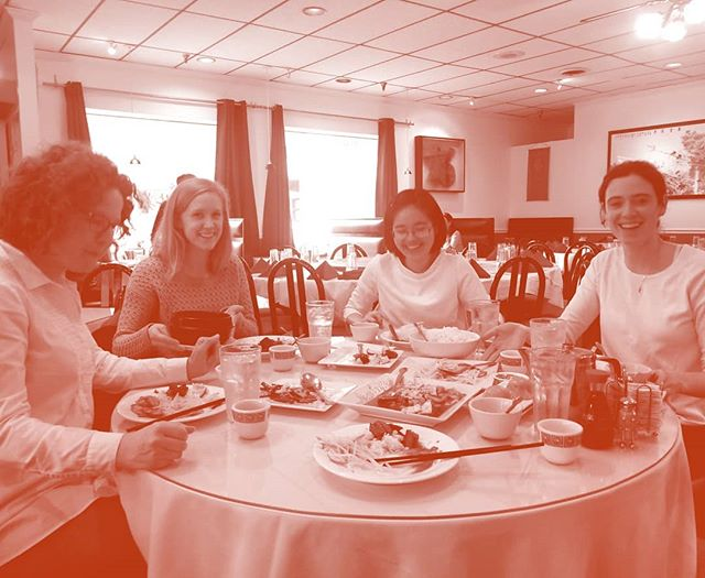 Happy New Year! We continued the tradition of having a team lunch at a local Chinese restaurant where Yini picked out an amazing spread for us westerners to enjoy. The pork and chestnuts was definitely the highlight. Also great to have @grumble_on back in the office with us for her winter externship from @aschool_uva