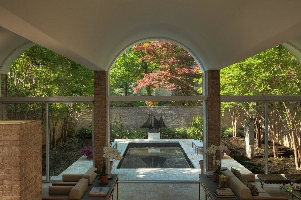 Project Location:  Washington, DC  Completion:  2008  General Contractor:  Evergro Landscaping  Primary Material Palette:  Travertine, Crape Myrtle, Azalea  Photos By:  Victoria Cooper
