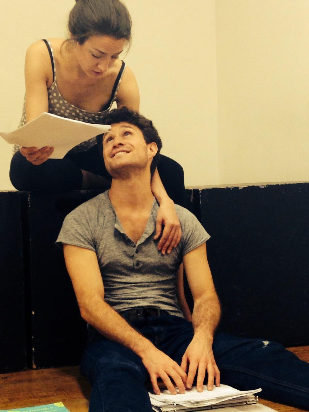Cam and Meg Rehearsal