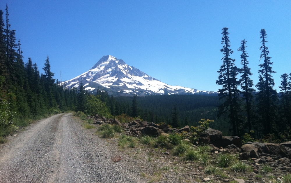 There are 'roads' to places like this... Mount Hood Wilderness Area, summer 2014.