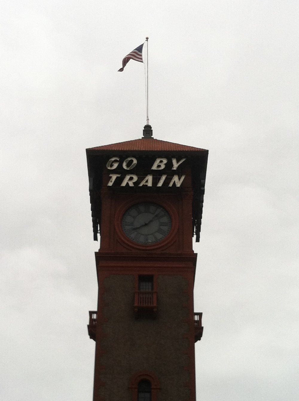 The train station in PDX.