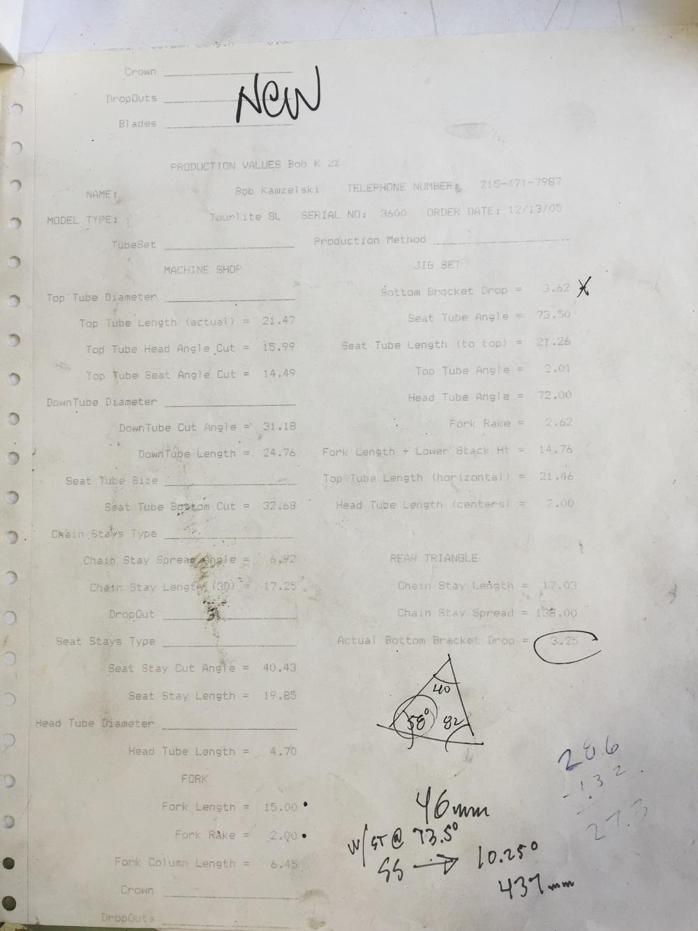 The OG plan sheet circa 2004