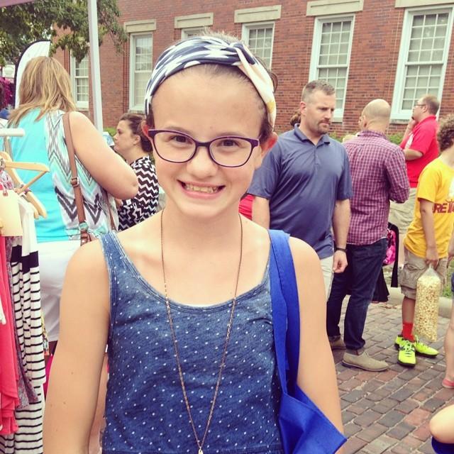 How cute is Allie in her Arizona Fabric headband. #arizonafabric @aprilarhodes @poorsparrow