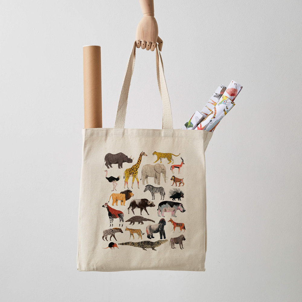 Safari Animals Tote Bag seconds £7.jpg
