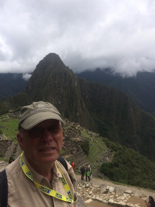 Paul p. enjoying machu picchu.