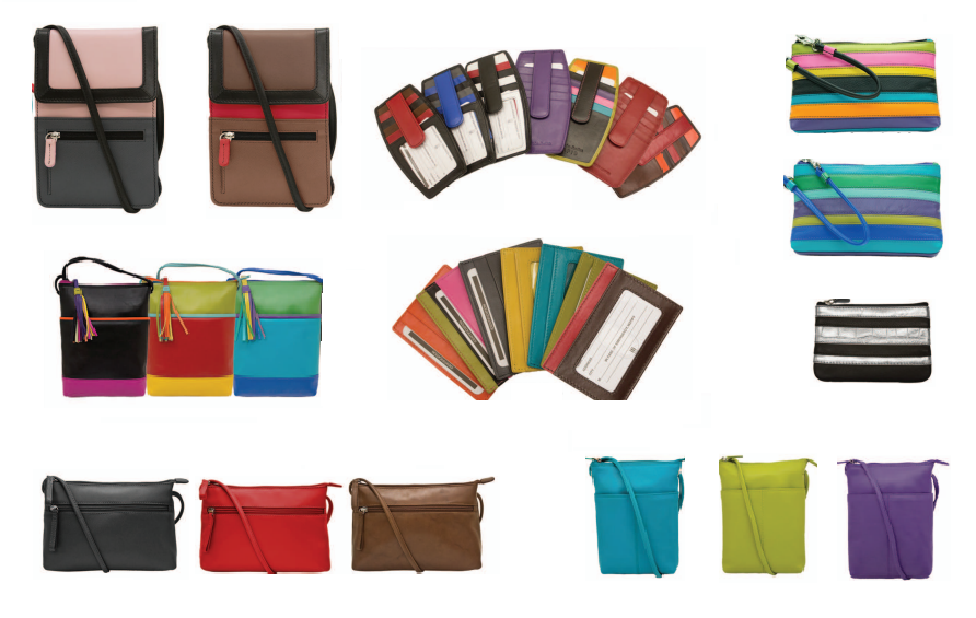We have different styles of purses, wallets, and card holders, all with RFID protection, in numerous colors