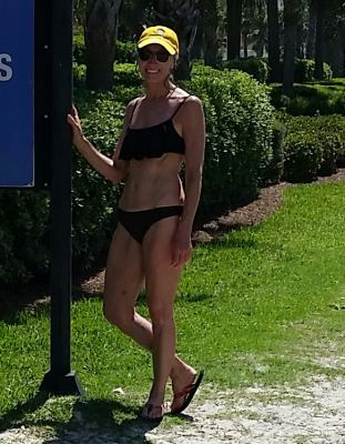 Lynette B. sporting our hat in sunny Florida!