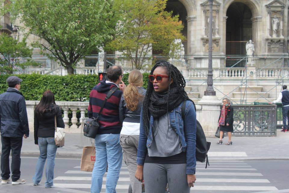 Me in the mean streets on Paris