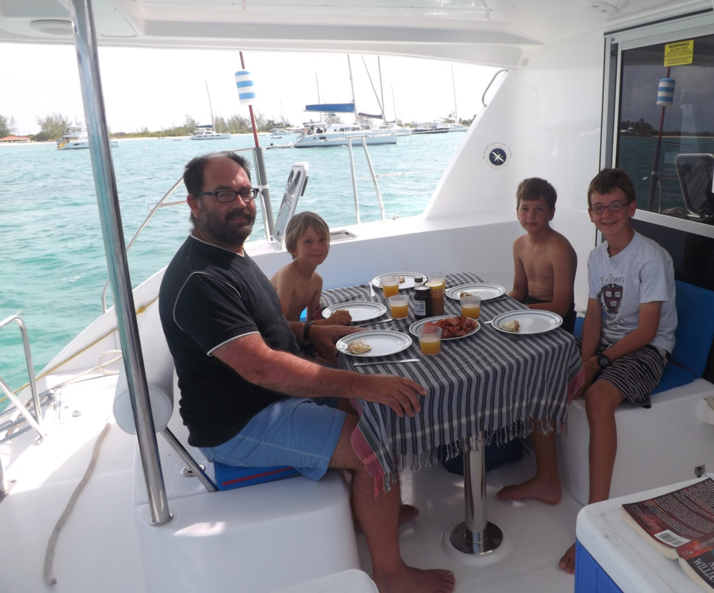 Family breakfast on board!