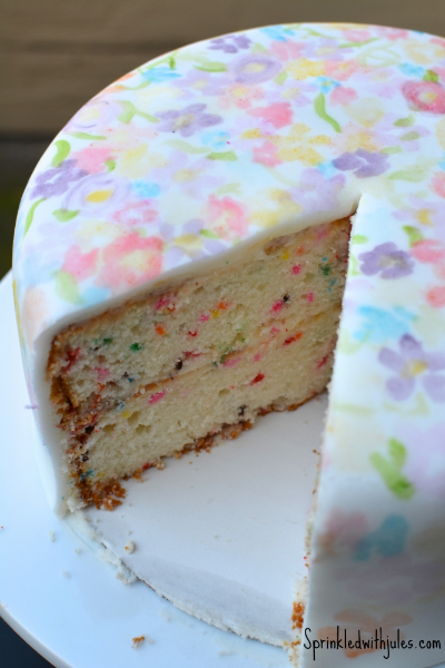 Watercolor Funfetti Cake - Sprinkled With Jules
