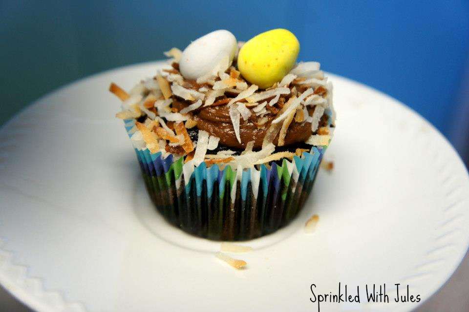 Easter Bird's Nest Cupcakes - Sprinkled With Jules