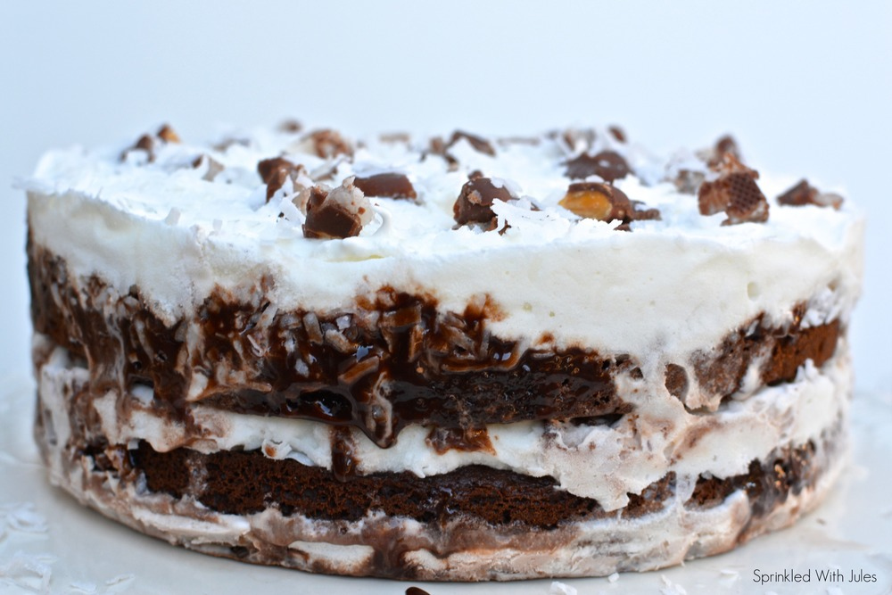 Almond Joy Ice Cream Cake — Sprinkled With Jules