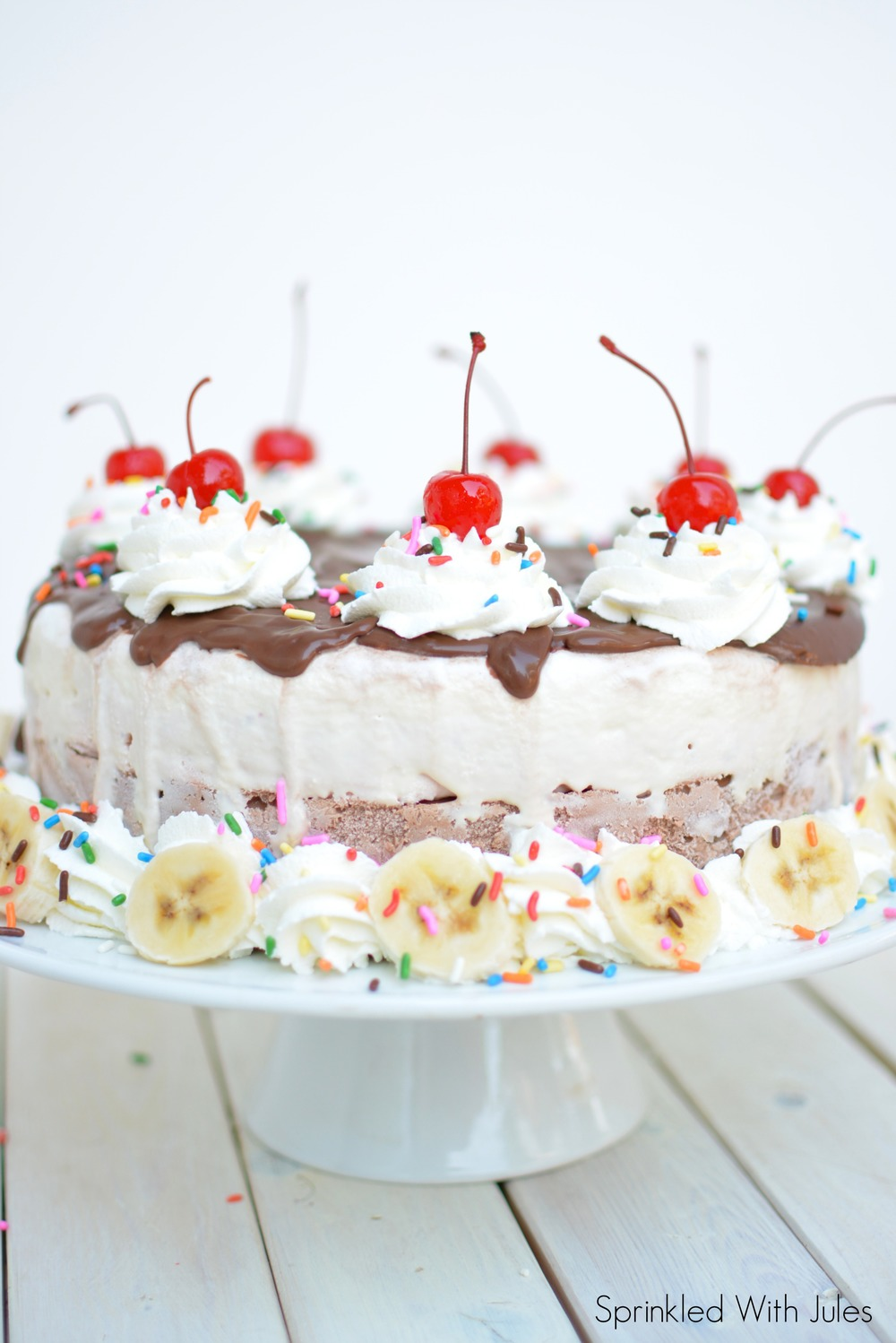 Banana Split Ice Cream Cake — Sprinkled With Jules