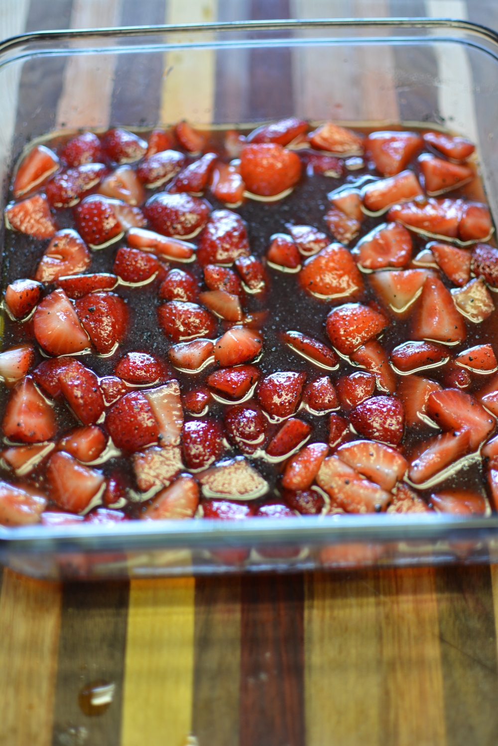 Roasted Balsamic Strawberries / Sprinkled With Jules
