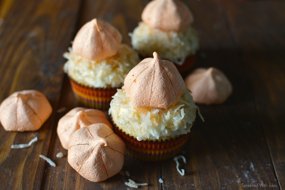 Pumpkin Meringue Cookies and Cupcakes / Sprinkled With Jules
