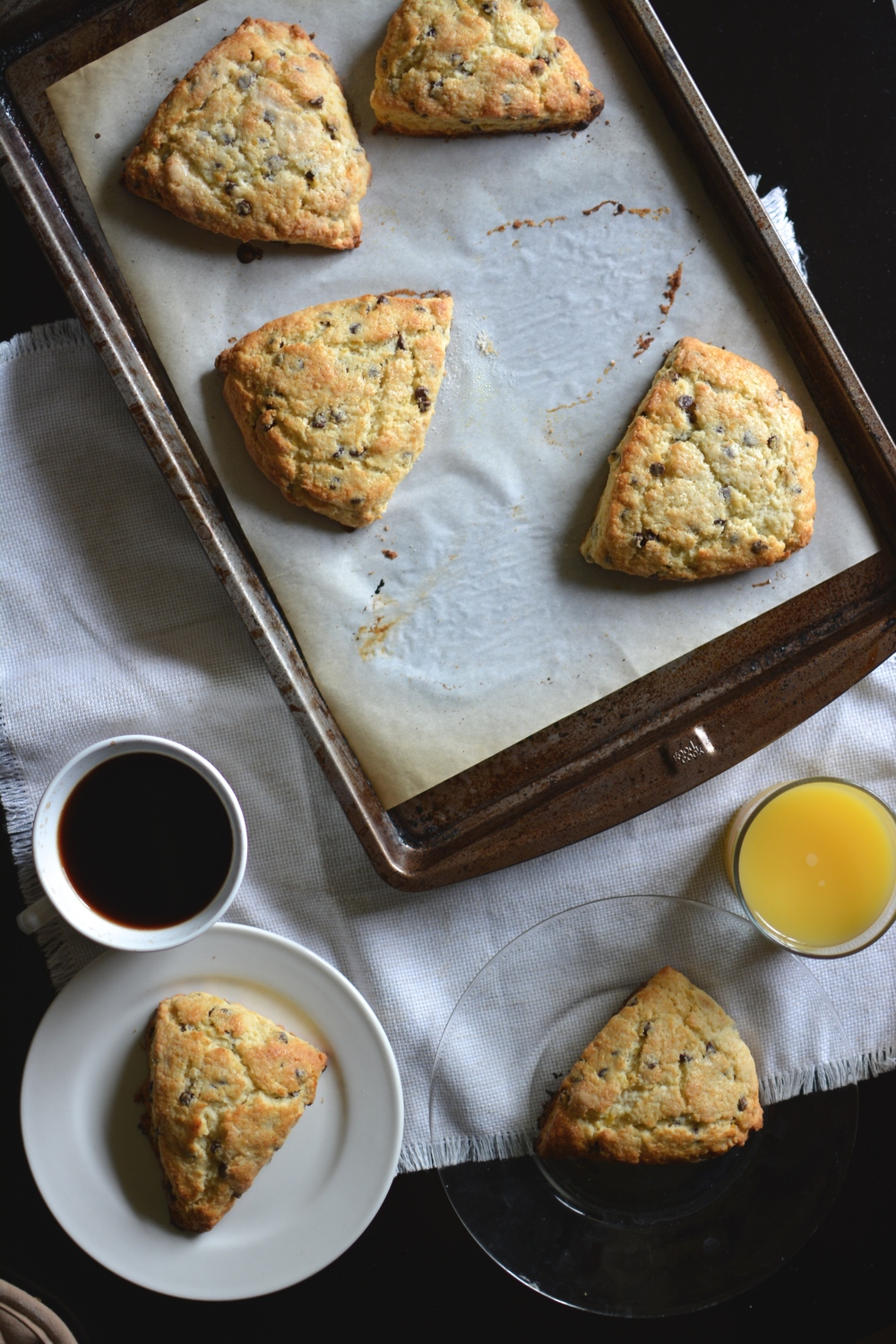 Chocolate Chip Orange Zest Scones / Sprinkled With Jules