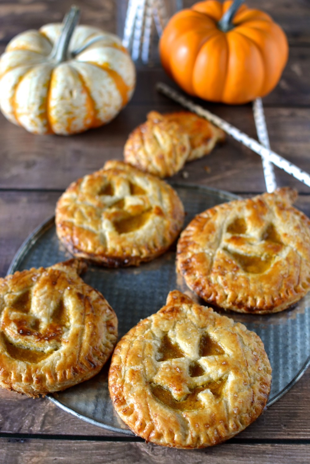 Jack-O-Lantern Pumpkin Hand Pies / Sprinkled With Jules