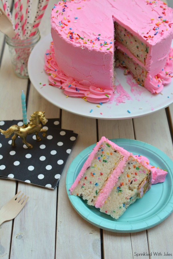 Funfetti Cake and Blog Anniversary Giveaway / Sprinkled With Jules