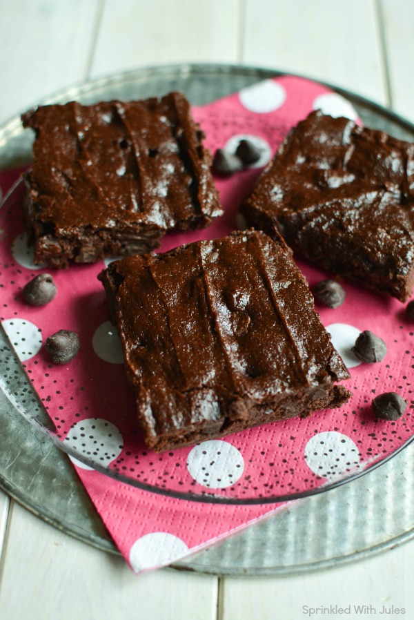 Greek Yogurt Brownies. Made with no butter or oil! / Sprinkled With Jules