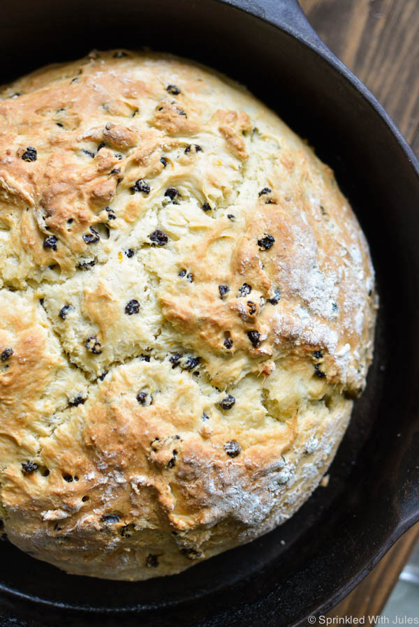 Irish Soda Bread with Dried Currants and Orange Zest / Sprinkled With Jules