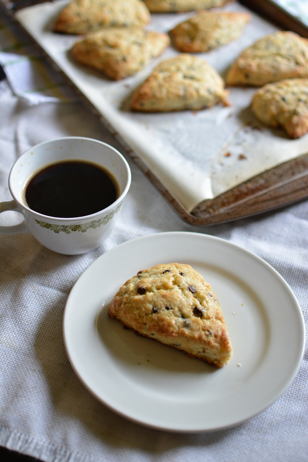 Chocolate Chip Orange Zest Scones