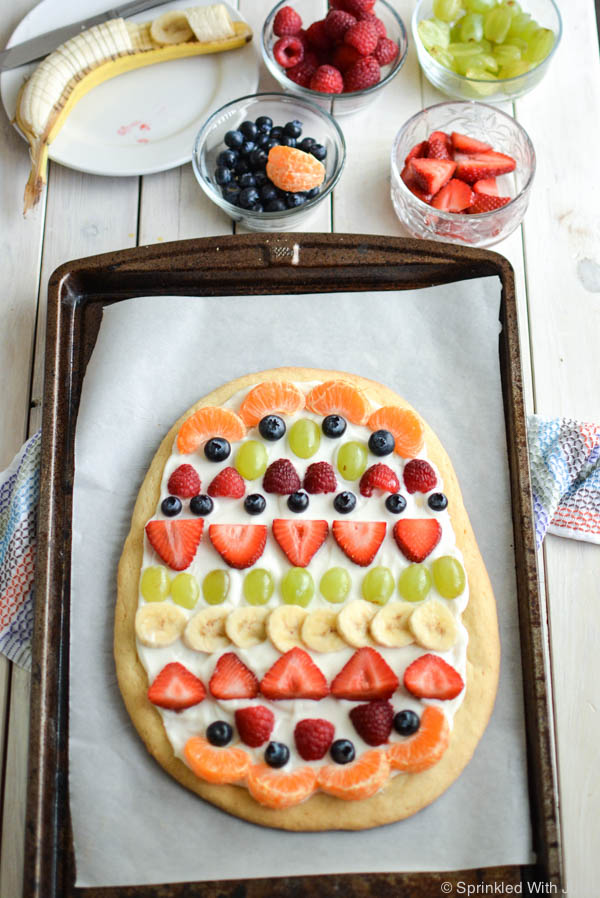 Easter Egg Fruit Pizza with Greek Yogurt. / Sprinkled With Jules