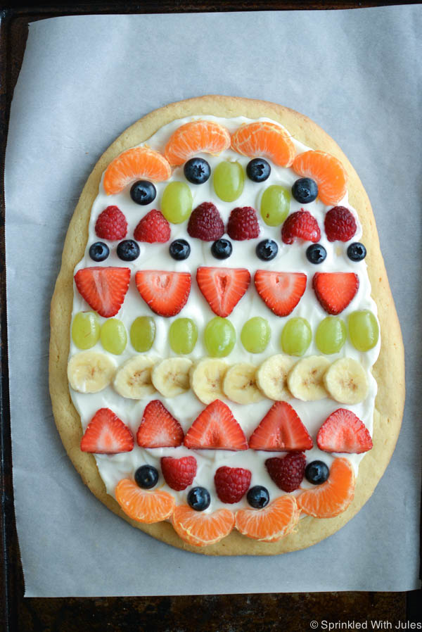 Easter Egg Fruit Pizza With Greek Yogurt