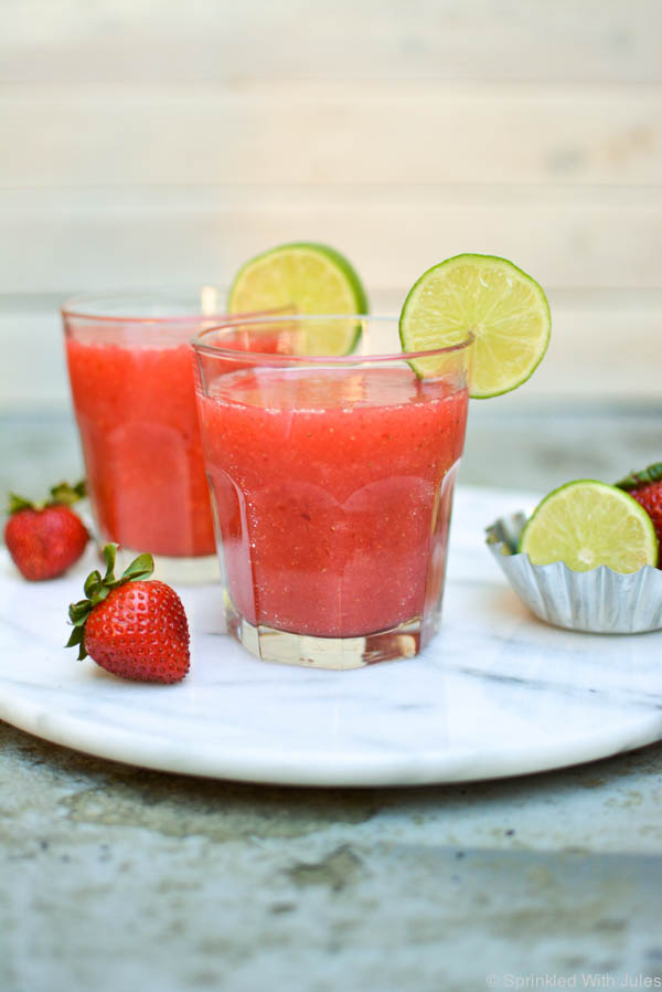 An easy recipe for frozen strawberry margaritas