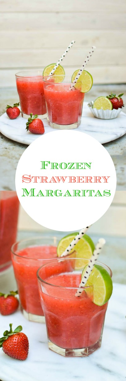Easy frozen strawberry margaritas