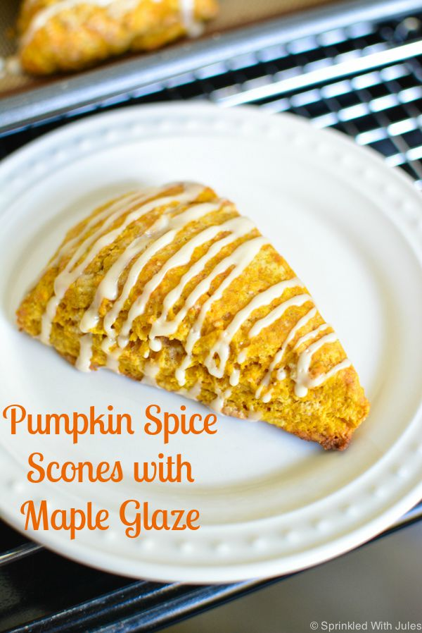 Pumpkin Spice Scones With Maple Glaze Sprinkled With Jules